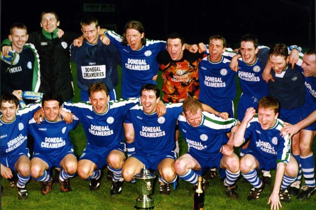 The Finn Harps Irish News Cup winning team